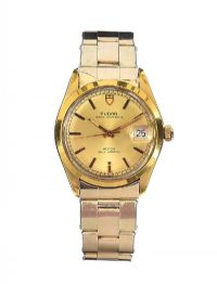 TUDOR 14CT GOLD PLATED STAINLESS STEEL WRIST WATCH at Ross's Auctions