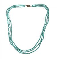 STRAND OF TURQUOISE BEADS at Ross's Jewellery Auctions