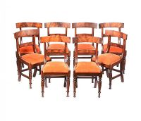 SET OF EIGHT GEORGIAN BAR BACK DINING ROOM CHAIRS at Ross's Auctions