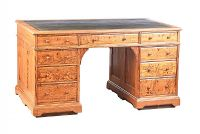 VICTORIAN PITCH PINE PEDESTAL DESK at Ross's Auctions