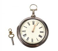IRISH SILVER FUSEE POCKET WATCH at Ross's Auctions