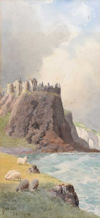 DUNLUCE CASTLE, COUNTY ANTRIM by Joseph William  Carey RUA at Ross's Auctions