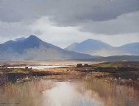A BREAK IN THE CLOUDS, CONNEMARA by Maurice Canning  Wilks ARHA RUA at Ross's Auctions