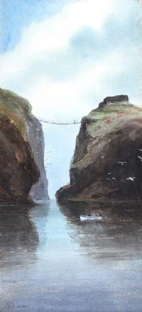 CARRICK A REDE ROPE BRIDGE, COUNTY ANTRIM by M. McGovern at Ross's Auctions
