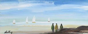WATCHING THE BOATS by Markey Robinson at Ross's Auctions