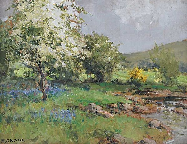 IN THE GLENS OF ANTRIM by James Humbert Craig RHA RUA at Ross's Online Art Auctions