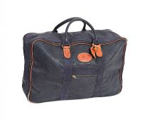 VINTAGE MULBERRY NAVY TRAVEL BAG at Ross's Auctions