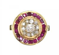 18CT GOLD RUBY AND DIAMOND RING at Ross's Auctions