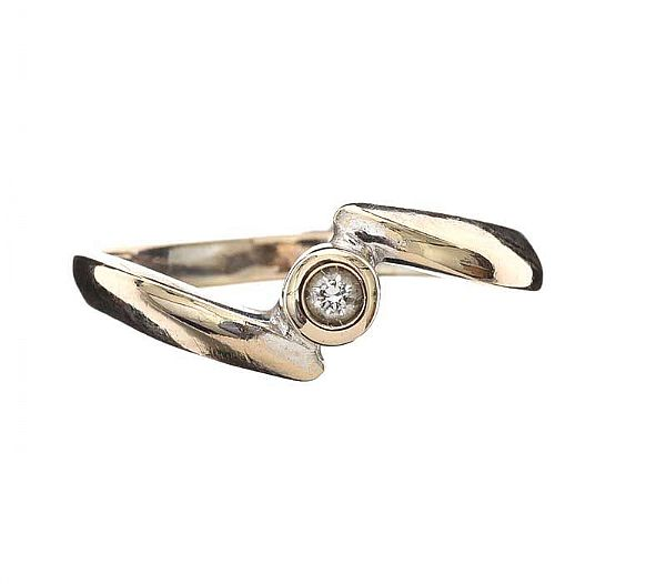 9CT WHITE GOLD DIAMOND RING at Ross's Online Art Auctions