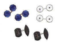 THREE PAIRS OF CUFFLINKS at Ross's Jewellery Auctions