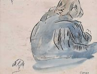 SEATED CHILD by William Conor RHA RUA at Ross's Auctions