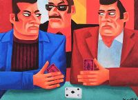 THE CARD PLAYERS by Graham Knuttel at Ross's Auctions