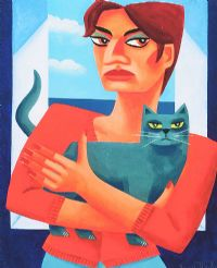 CAT LADY by Graham Knuttel at Ross's Auctions