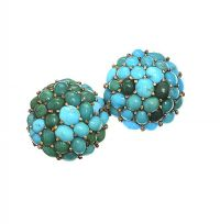 GOLD-TONE TURQUOISE BROOCH at Ross's Jewellery Auctions