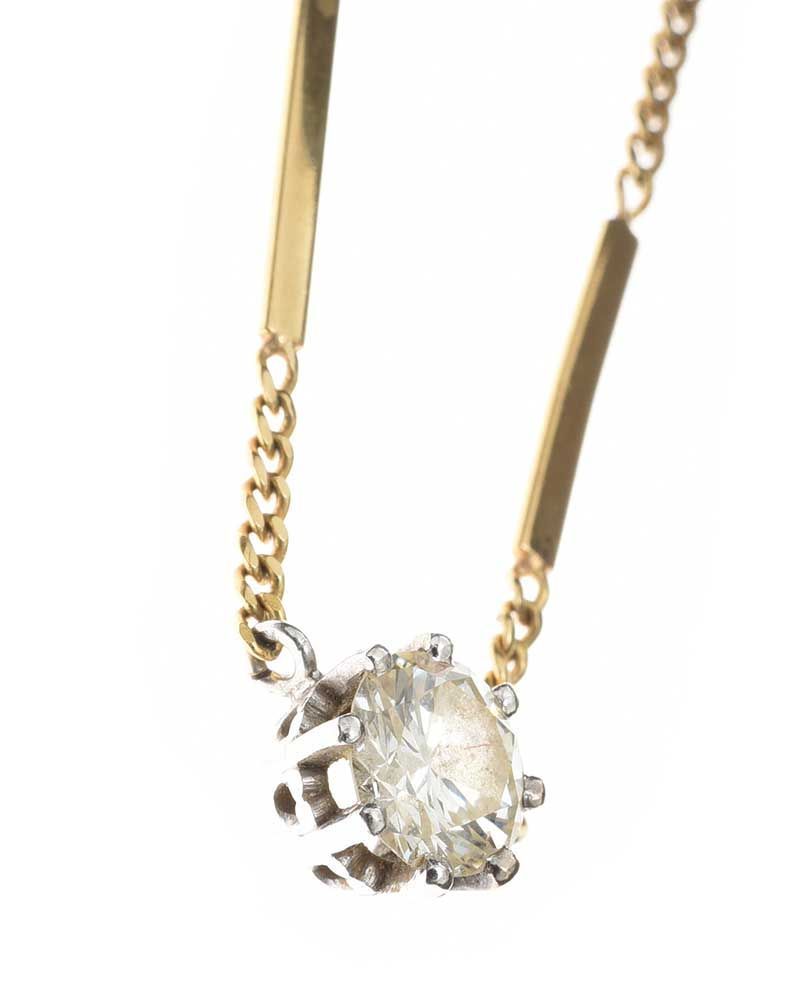 18CT GOLD DIAMOND PENDANT at Ross's Online Art Auctions