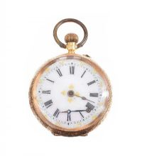GOLD OPEN FACED WATCH at Ross's Jewellery Auctions