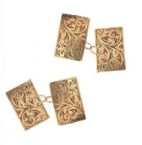 9CT GOLD BOXED CUFFLINKS at Ross's Jewellery Auctions