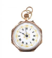9CT GOLD OPEN FACED FOB WATCH at Ross's Auctions