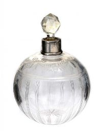 ETCHED GLASS PERFUME BOTTLE at Ross's Auctions