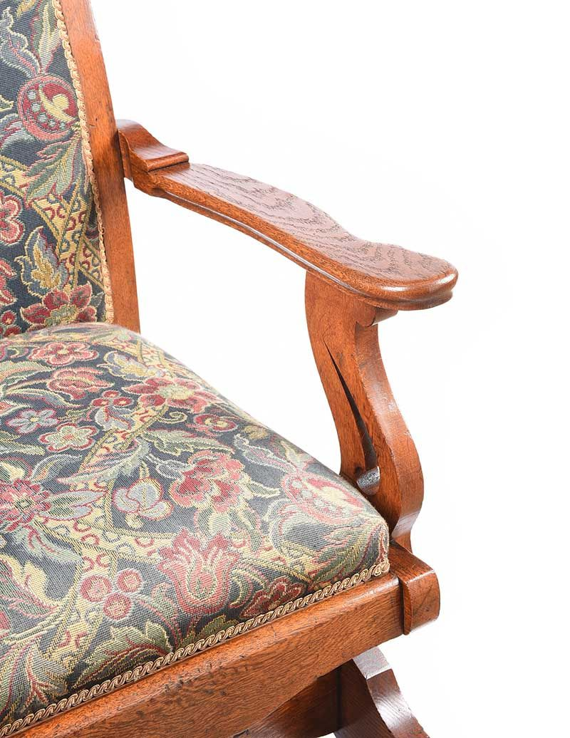 ARTS & CRAFTS OAK ROCKING CHAIR at Ross's Online Art Auctions