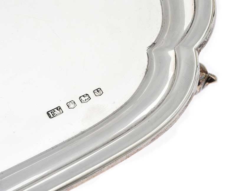 SQUARE SILVER SALVER at Ross's Online Art Auctions