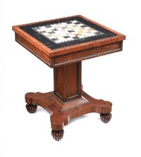 WILLIAM IV CHESS TABLE at Ross's Online Art Auctions