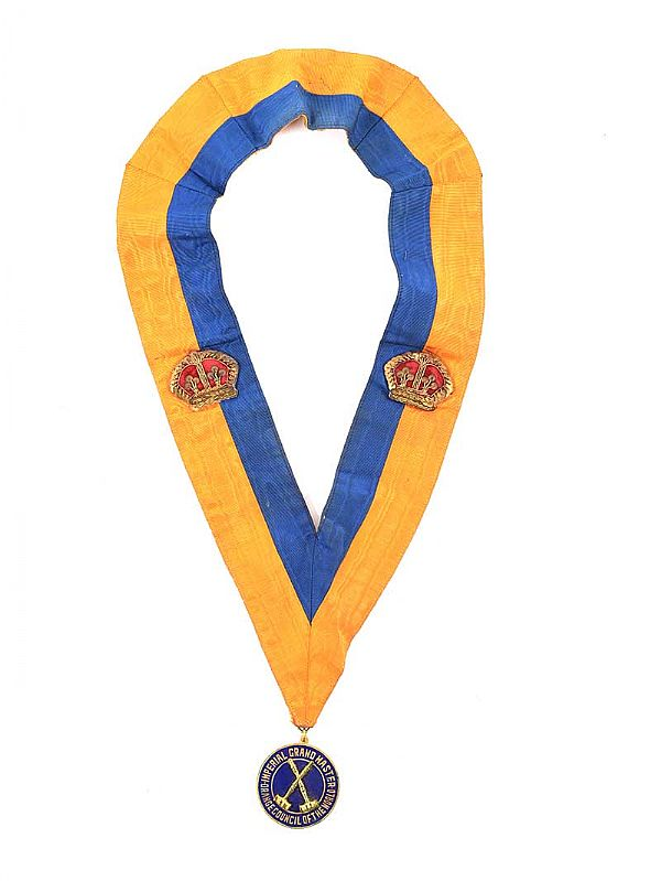 ORANGE ORDER SASH at Ross's Online Art Auctions
