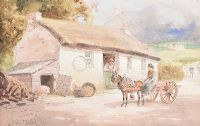 COTTAGE AT THE FOOT OF THE MOURNES by Joseph William  Carey RUA at Ross's Auctions