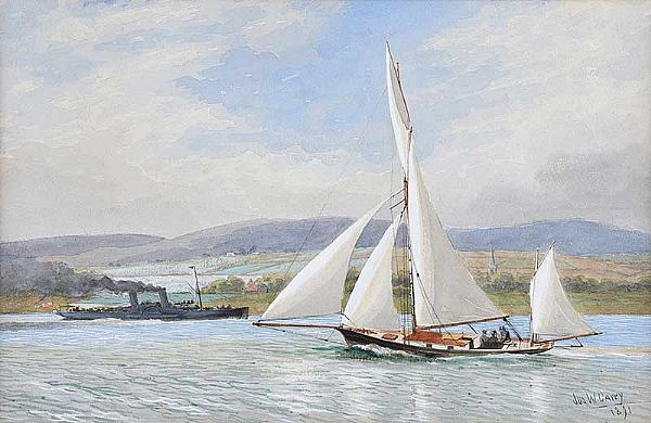 OUT SAILING by Joseph William  Carey RUA at Ross's Online Art Auctions