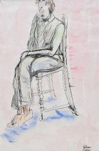 SEATED LADY by William Conor RHA RUA at Ross's Auctions
