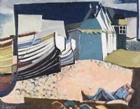 RESTING IN THE BOATYARD by Olive Henry RUA at Ross's Auctions