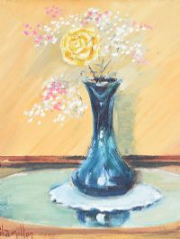 STILL LIFE, VASE OF FLOWERS by Ken Hamilton at Ross's Auctions