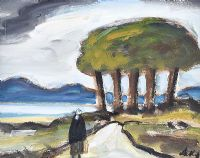 FIVE TREES by Markey Robinson at Ross's Auctions