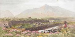 MOURNE MOUNTAINS, COUNTY DOWN by Joseph William  Carey RUA at Ross's Auctions