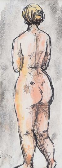STANDING NUDE by Daniel O'Neill at Ross's Auctions