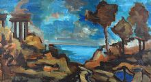 ON THE ITALIAN COAST by Markey Robinson at Ross's Auctions