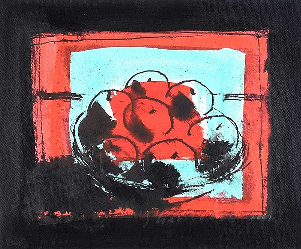 STILL LIFE, BOWL OF FRUIT by Neil Shawcross RHA RUA at Ross's Online Art Auctions