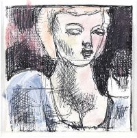 HEAD OF A GIRL by Daniel O'Neill at Ross's Auctions