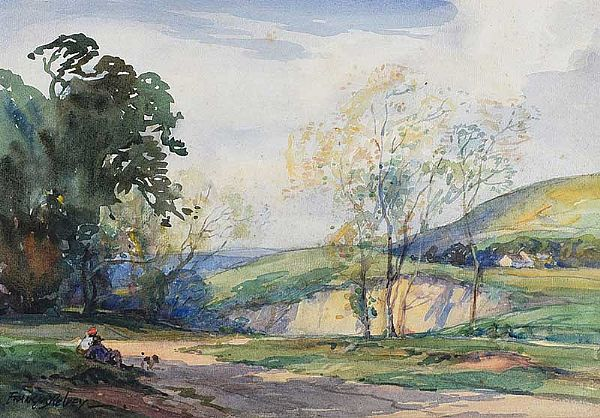 QUARRY NEAR NEWRY, COUNTY ARMAGH by Frank McKelvey RHA RUA at Ross's Online Art Auctions