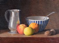STILL LIFE, FRUIT & PEWTER TANKARD by Margaret Shaw at Ross's Auctions