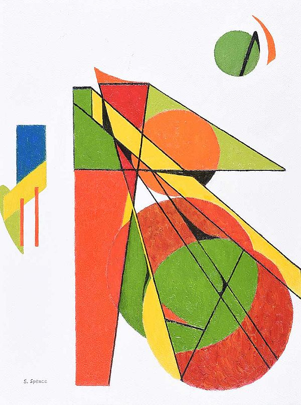 COLOUR DEFINES & DIVIDES by Sam Spence at Ross's Online Art Auctions