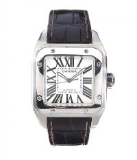 CARTIER 'SANTOS 100' GENT'S STAINLESS STEEL WRIST WATCH at Ross's Auctions