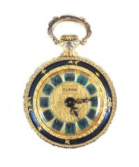 GOLD-PLATED CLAMA FOB WATCH at Ross's Online Art Auctions