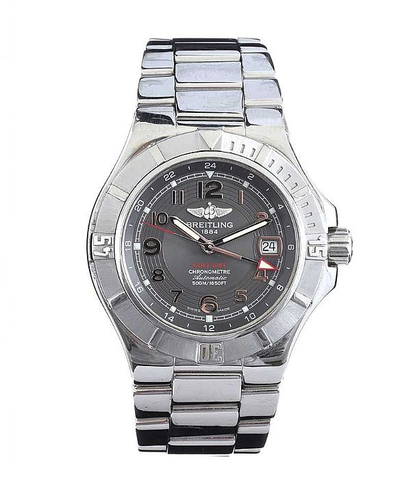 BRIETLING COLT STAINLESS STEEL WRIST WATCH at Ross's Online Art Auctions