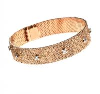 18CT ROSE GOLD DIAMOND BRACELET at Ross's Jewellery Auctions