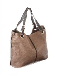 TAUPE LEATHER HANDBAG at Ross's Auctions