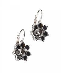 18CT WHITE GOLD COLOURED DIAMOND CLUSTER EARRINGS at Ross's Auctions