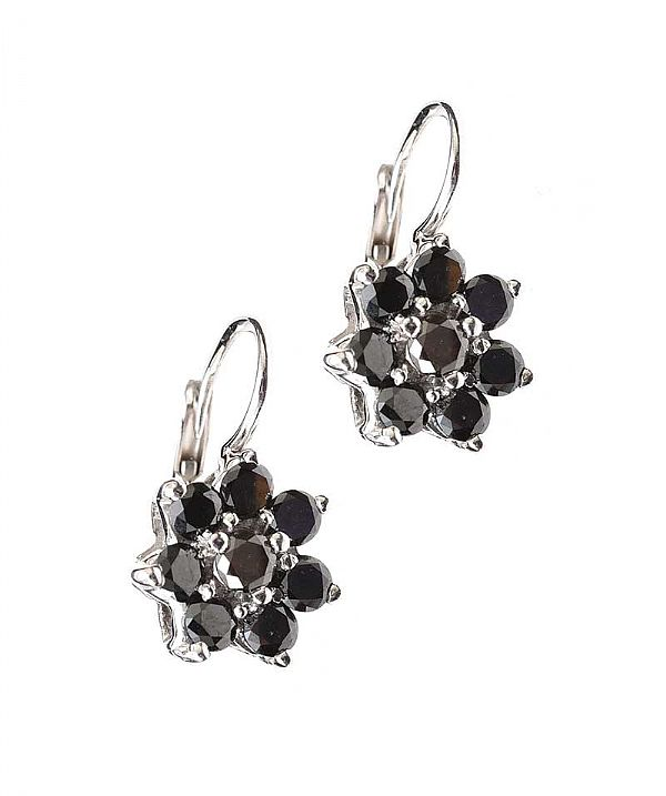 18CT WHITE GOLD COLOURED DIAMOND CLUSTER EARRINGS at Ross's Online Art Auctions
