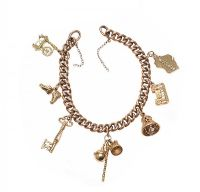 9CT GOLD CHARM BRACELET (NO CLASP) at Ross's Jewellery Auctions