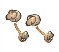CARTIER 18CT GOLD KNOT CUFFLINKS at Ross's Jewellery Auctions